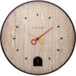 Zegar z czarnym słowikiem Nextime Nightingale 30 cm (5220 ZW)