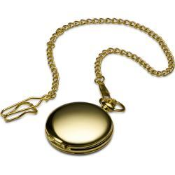 Zegarek kieszonkowy w złotym tonie