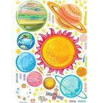 Zestaw naklejek ściennych Ambiance Solar System Planets