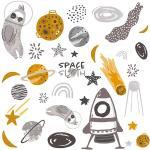 Zestaw naklejek Space Sloth