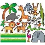 Zestaw naklejek zwierzęta 3